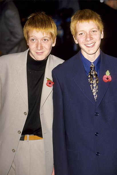 Flashback To The 2001 Harry Potter And The Sorcerer S Stone Premiere Oliver Phelps Phelps Twins Weasley Twins