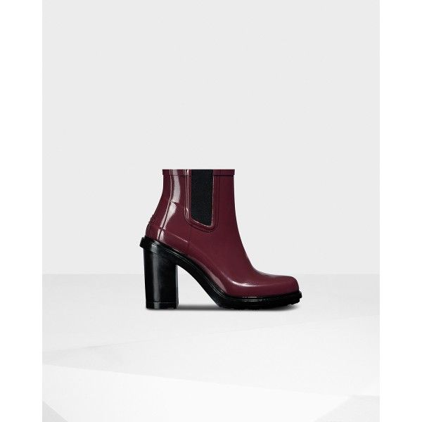 Hunter Women's Original Refined Chelsea Boots Dulse is on sale in the hunter  boots online outlet store that sell the cheap hunter boots.