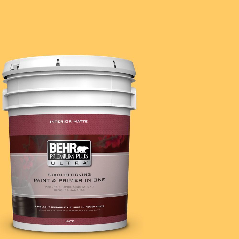 BEHR Premium Plus Ultra 5 gal. #P260-6 Smiley Face Matte Interior Paint