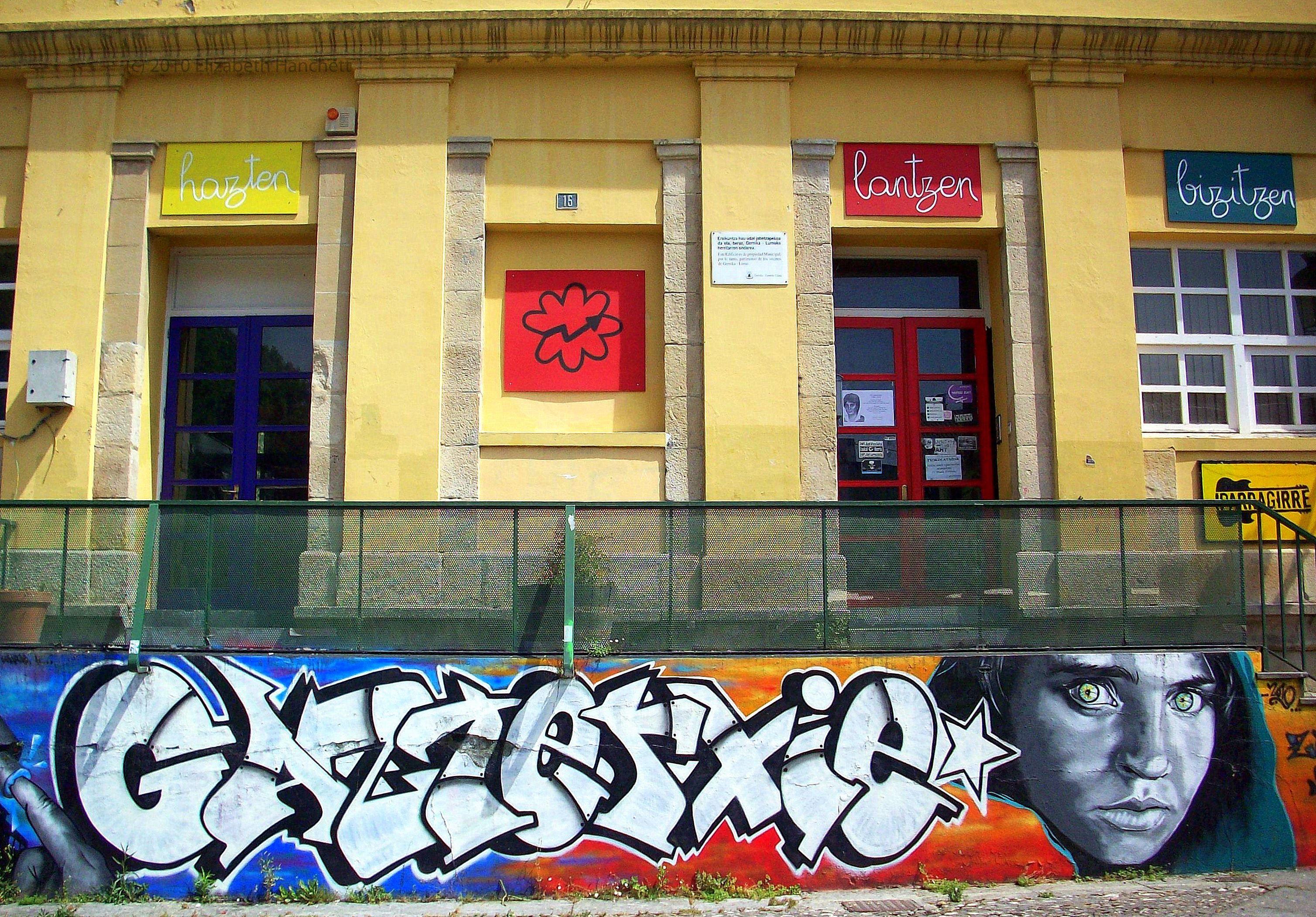 Anonymous graffiti in Gernika, Spain