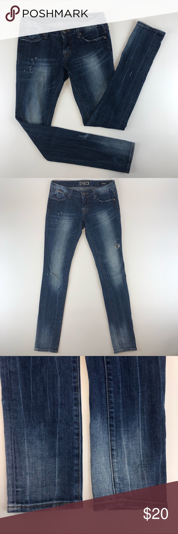 REROCK for Express Women's Distressed Skinny Jeans REROCK for