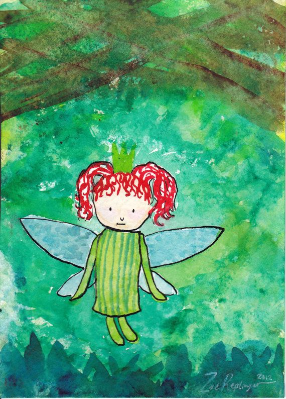 Woodland Fairy Princess, Zoe Replinger, SillyStudios. $50.00, via Etsy.