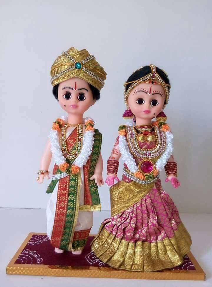 Indian Dressed Dolls Wedding Doll Couples Doll Indian Dolls