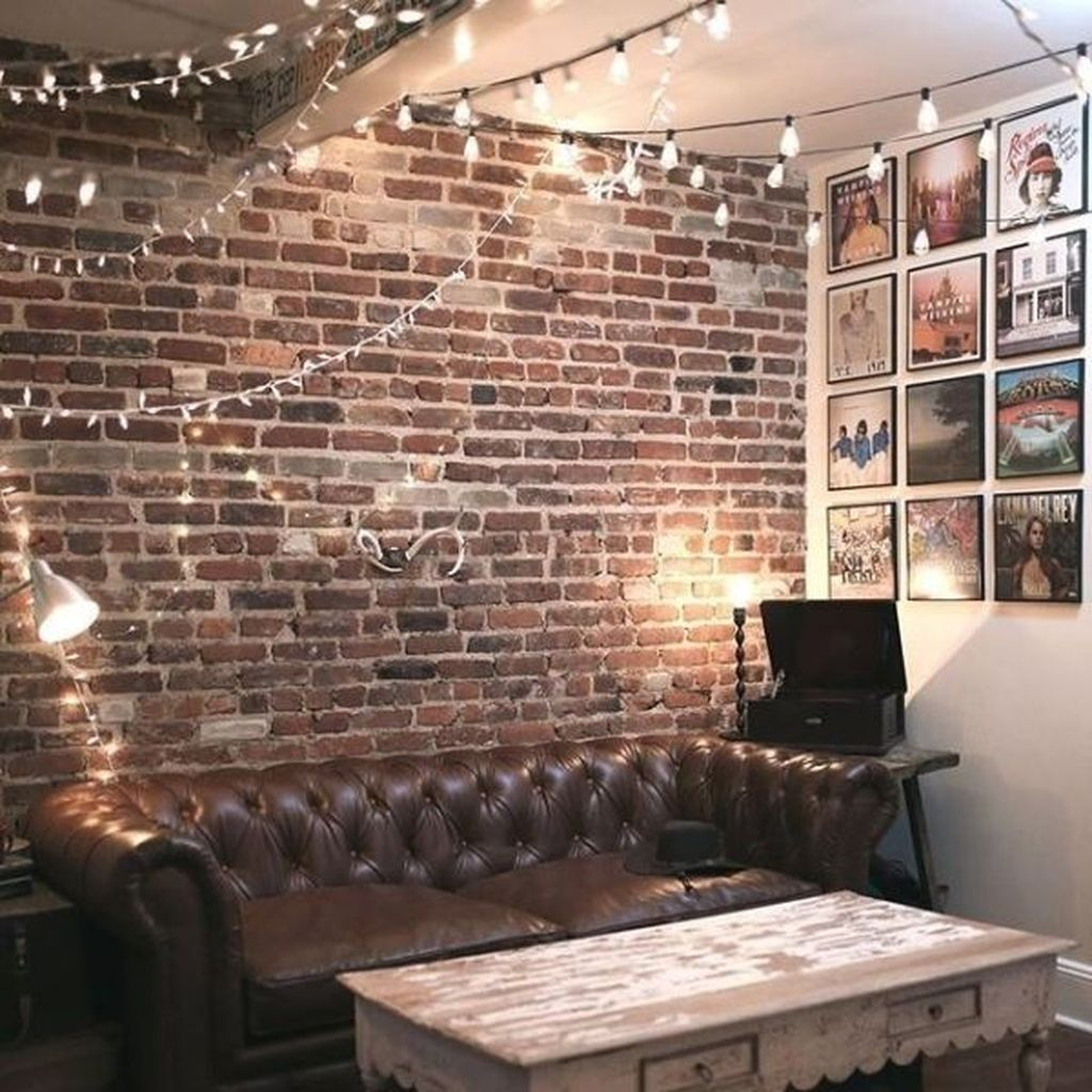 23 Elegant Living Room With Exposed Brick Wall: Pin By Homishome On Living Room