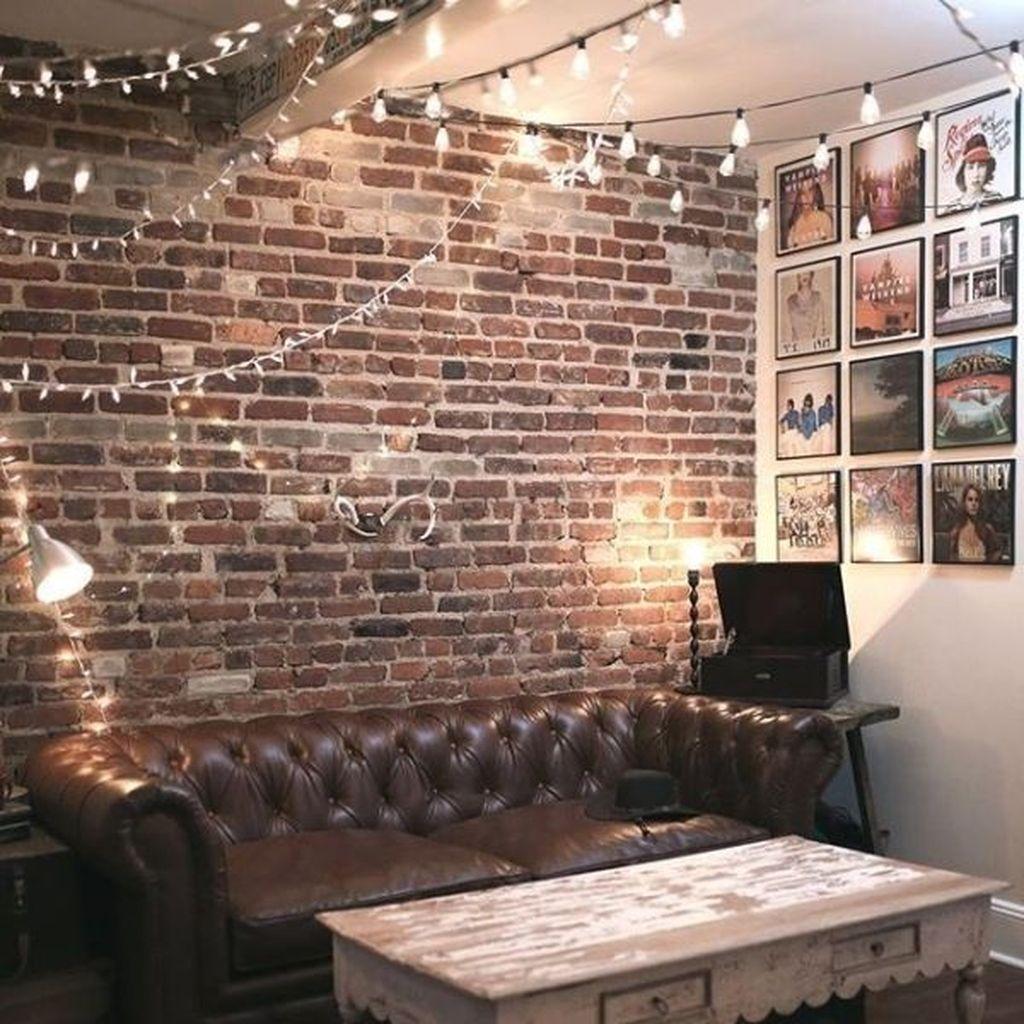 48 Ispiring Rustic Elegant Exposed Brick Wall Ideas Living