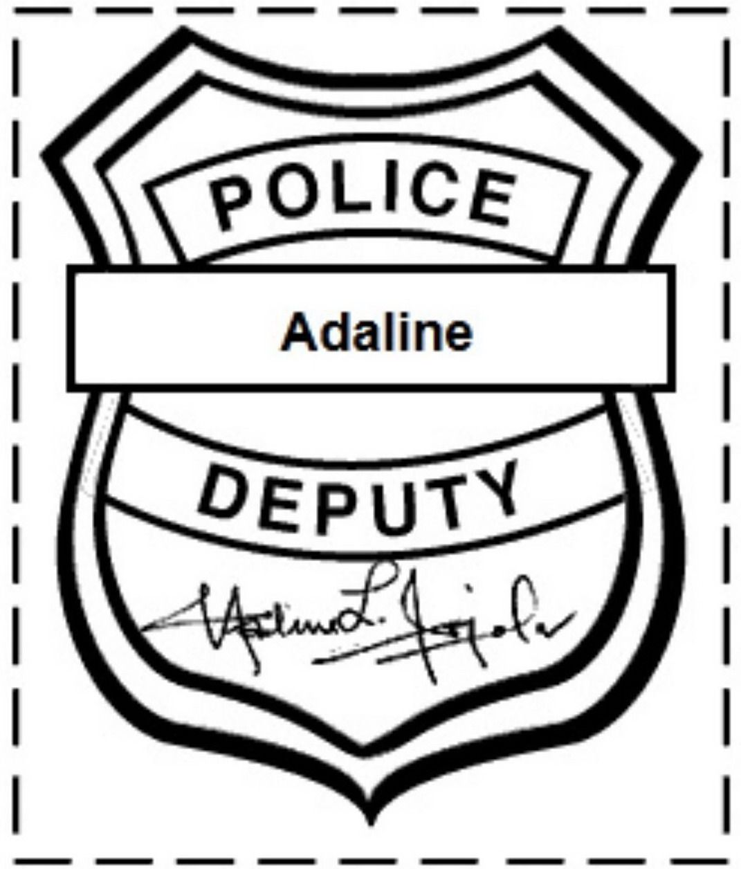 Police Badge Coloring Page Police Badge Police Activities