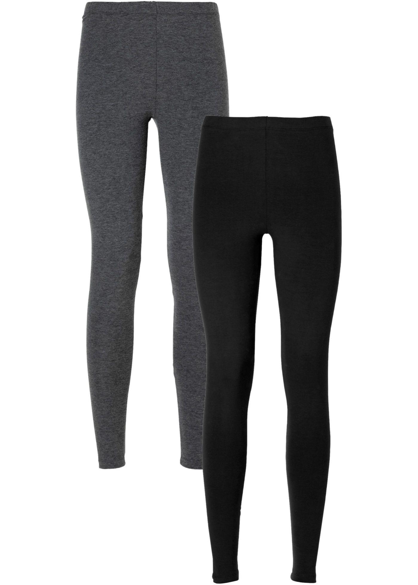 4870cc9b6a544 Commandez maintenant Lot de 2 leggings gris chiné noir à partir de 17,99 €