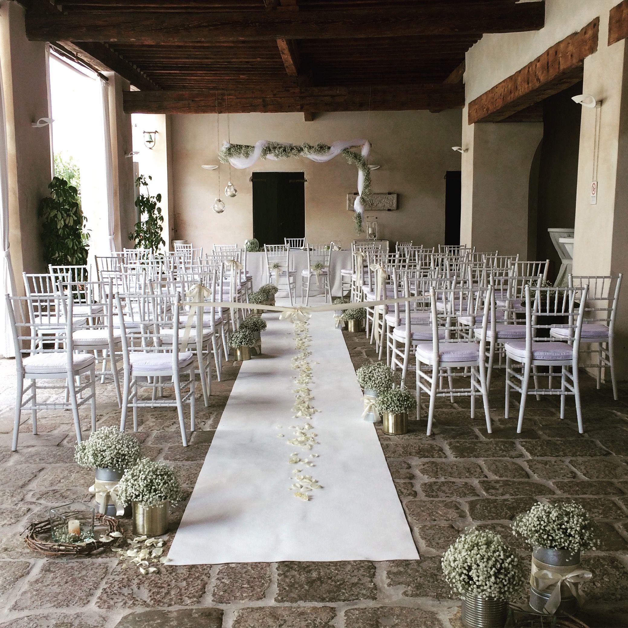 Cerimonia Civile Villa Correr Agazzi - matrimonio Erbe Aromatiche e Gypsophila // wedding planner e designer: Un Giorno su Misura