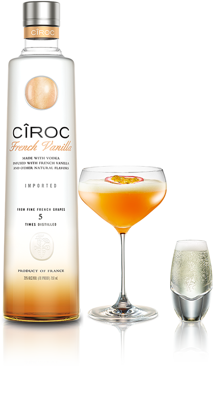 Cîroc French Vanilla 2 oz ciroc french vanilla, 1 oz