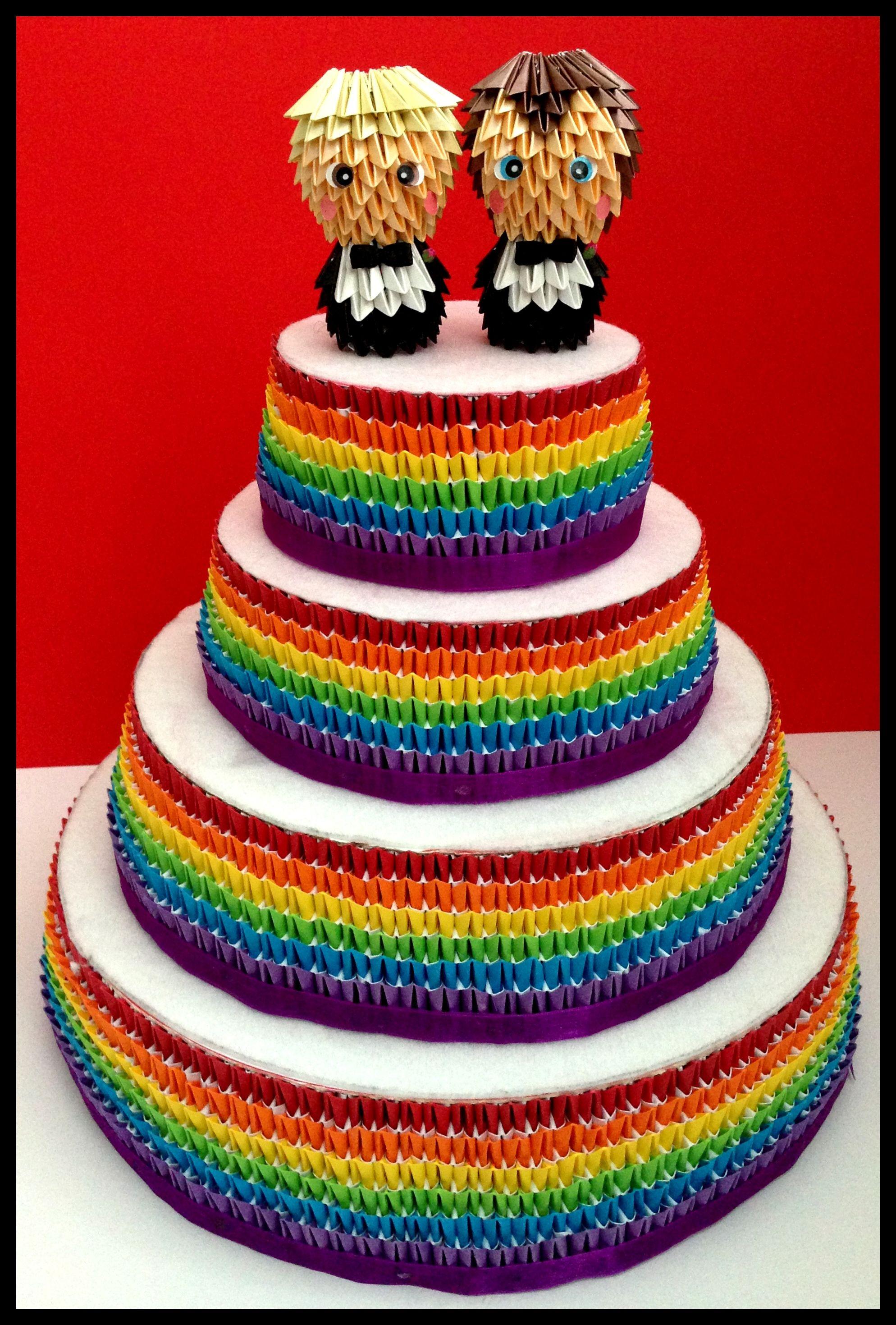 Groom Groom Gay Wedding Cake Toppers Gay Pride Wedding LGBT www