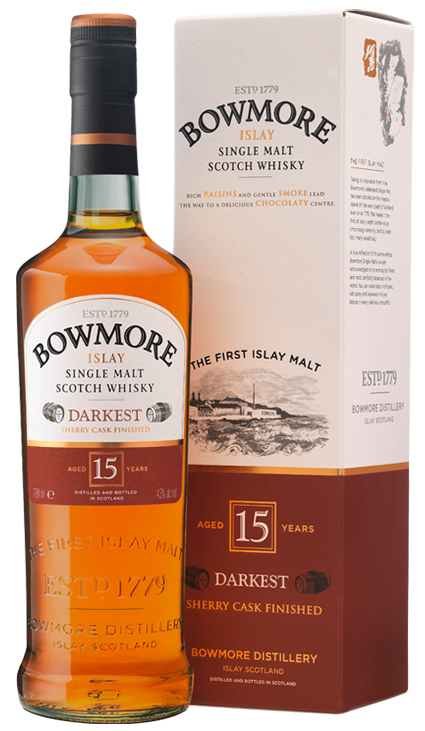 Bowmore 15 Years Old Darkest Bowmore Islay Single Malt Whisky Available From Whisky Please Bowmore Whisky Malt Whisky Single Malt Whisky
