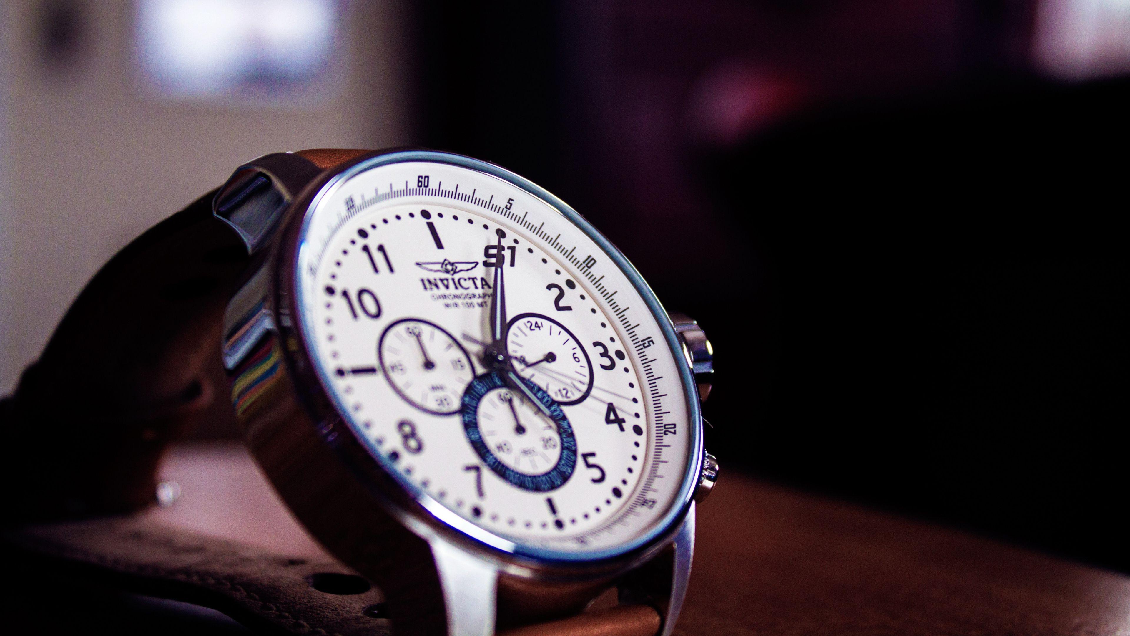 3840x2160 Wallpaper invicta, watches, dial, status
