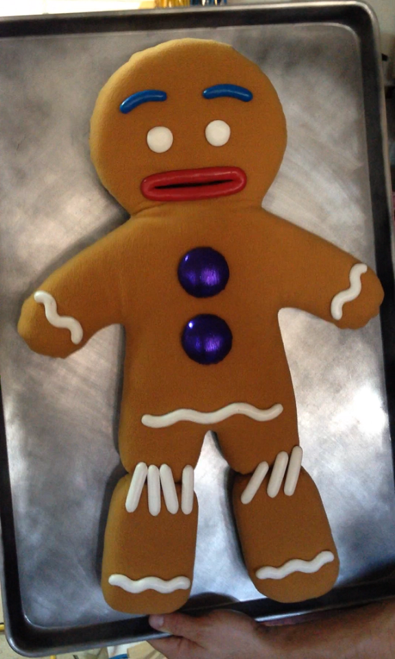 Gingy with Stitched Legs Shrek, Gingerbread man shrek