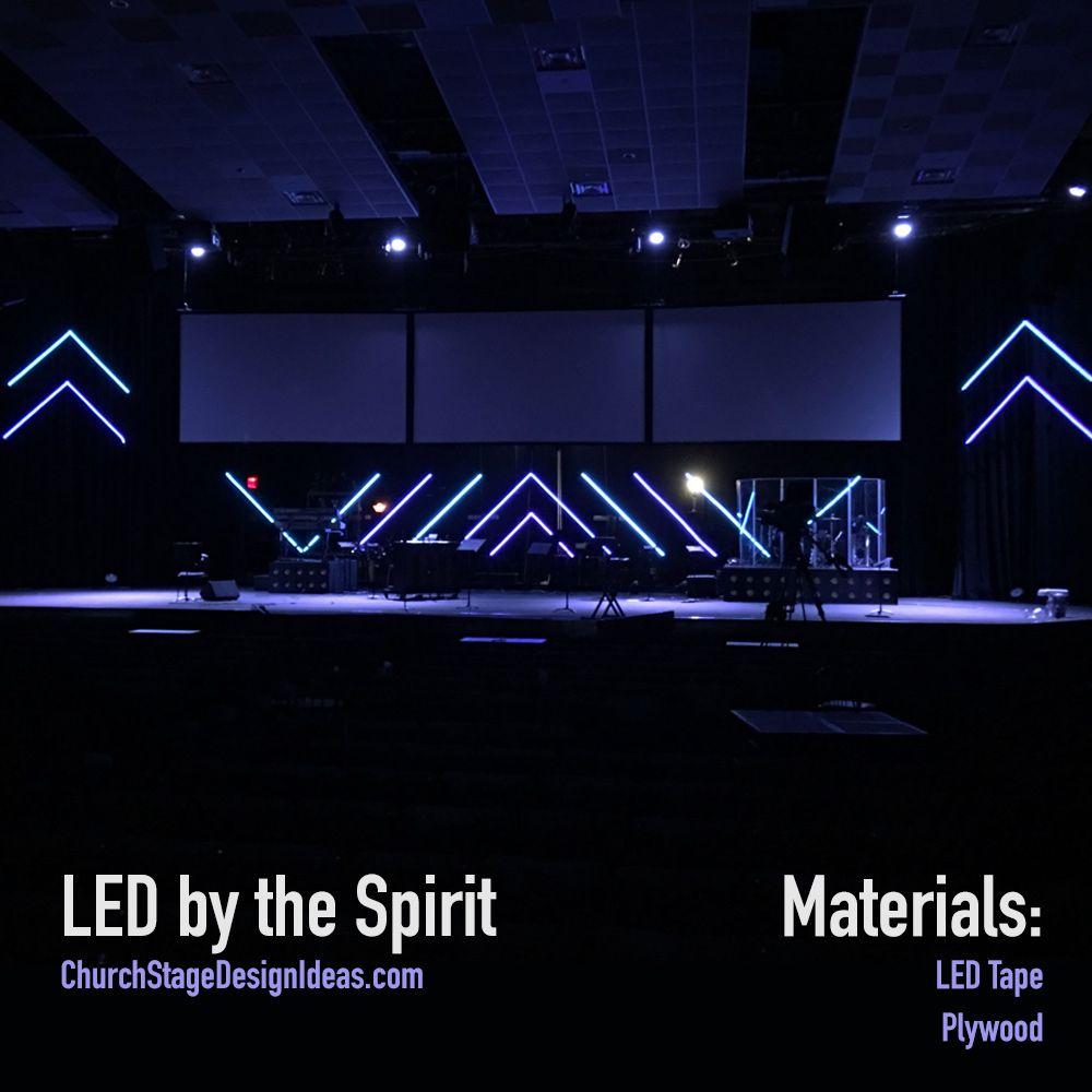 Led By The Spirit Church Stage Design Stage Design Stage Set Design