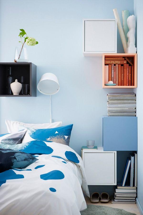 Eket Cabinet Dark Gray Width 13 3 4 Height 13 3 4 Shop Today Ikea In 2020 Ikea Bedroom Storage Ikea Small Bedroom Remodel Bedroom