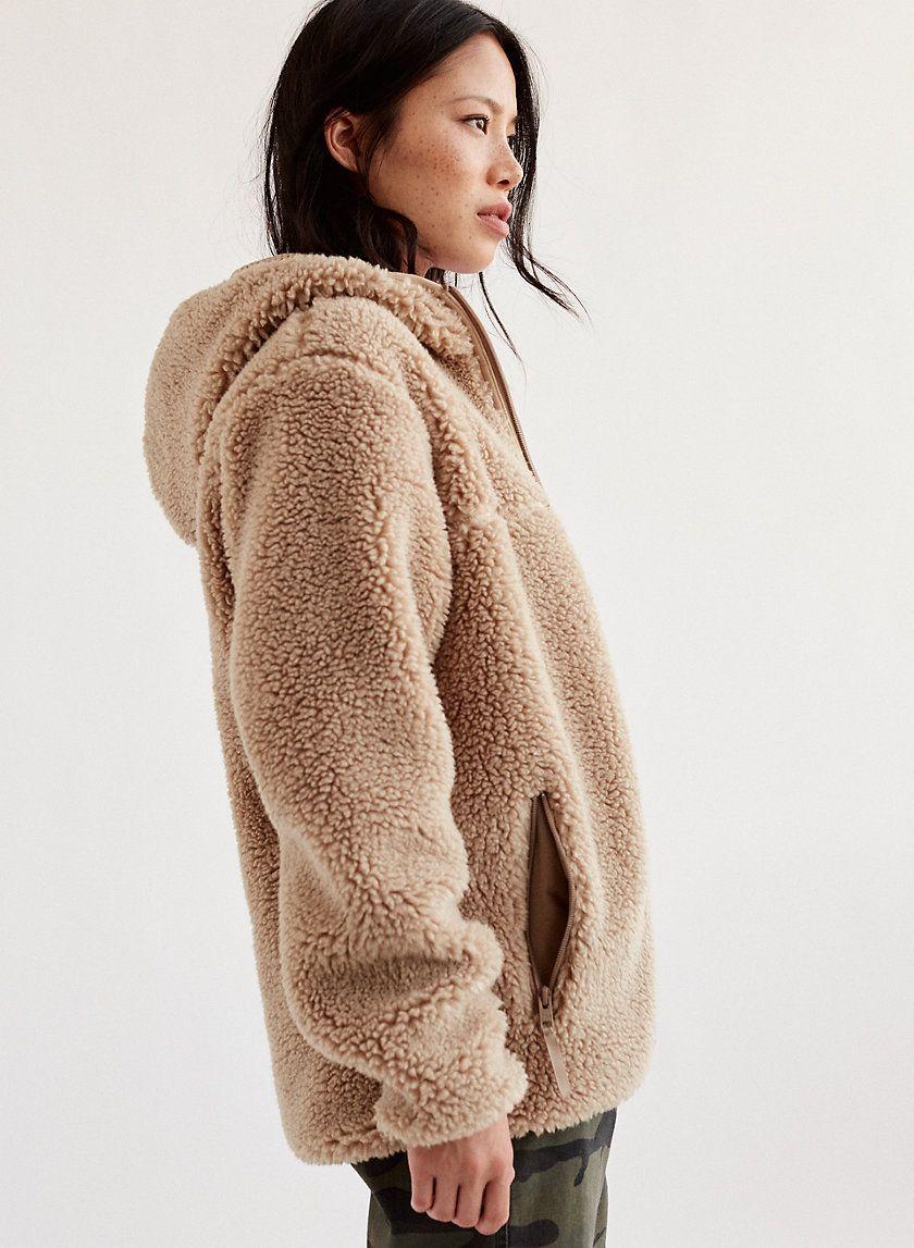 28ae9c571f63 Sherpa fleece hoodie