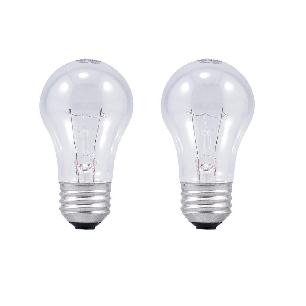 Sylvania 40 Watt Double Life A15 Incandescent Light Bulb 2 Pack 11956 The Home Depot Light Bulb