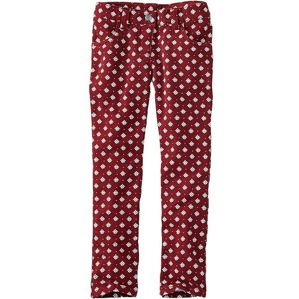 Skinny Knit Jeans In French Terry (58 CAD) ❤ liked on Polyvore