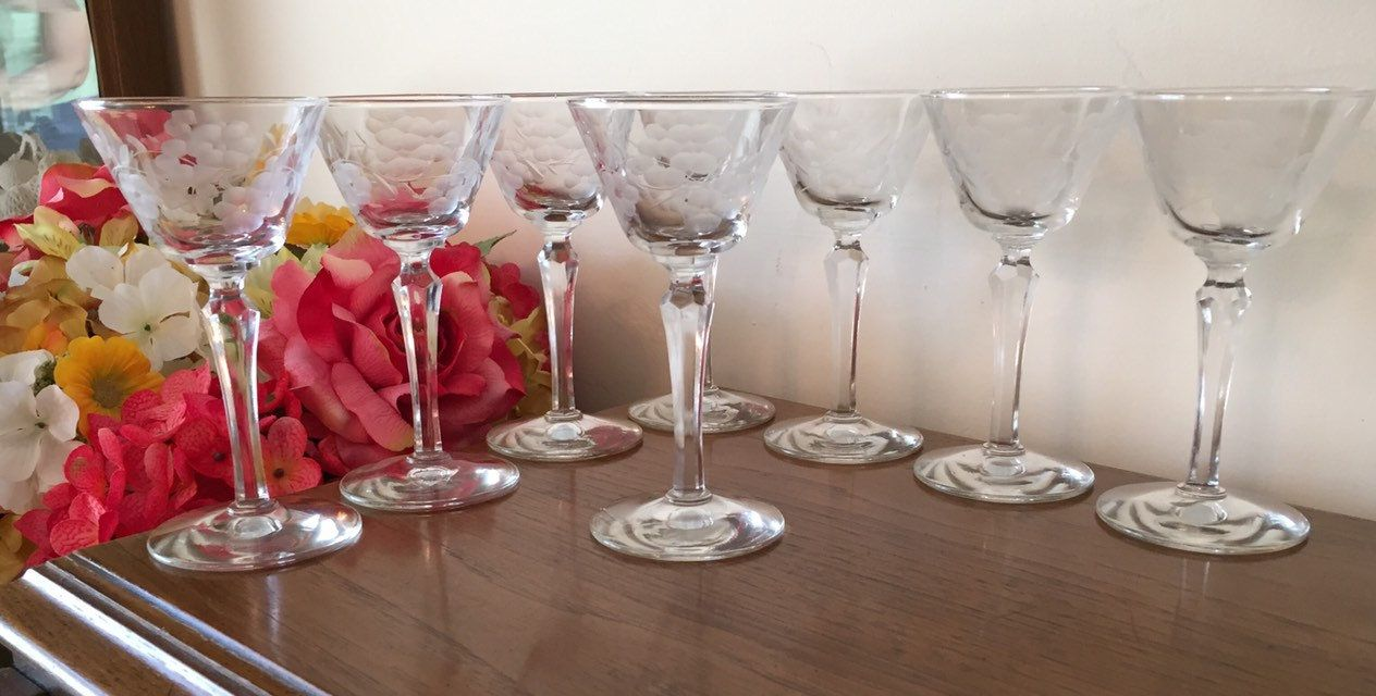 Pin On Retro Water Wine Glasses