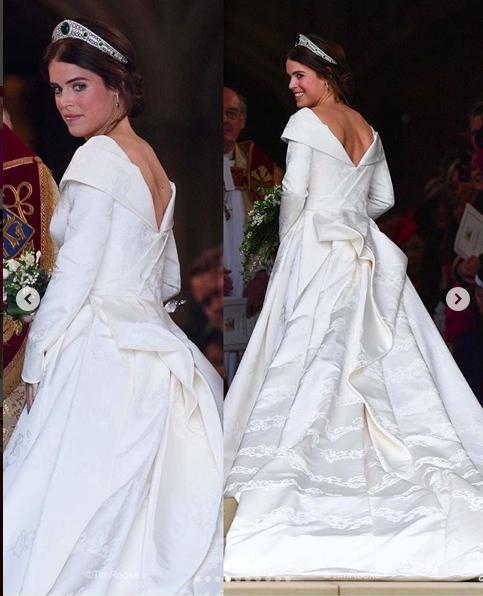 Princess Eugenie's wedding gown! Royal wedding