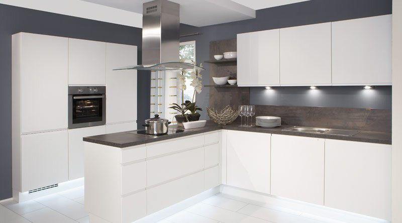 Nobilia-Duo-333-White-Matt-Handle-less-German-kitchen | Haus ...