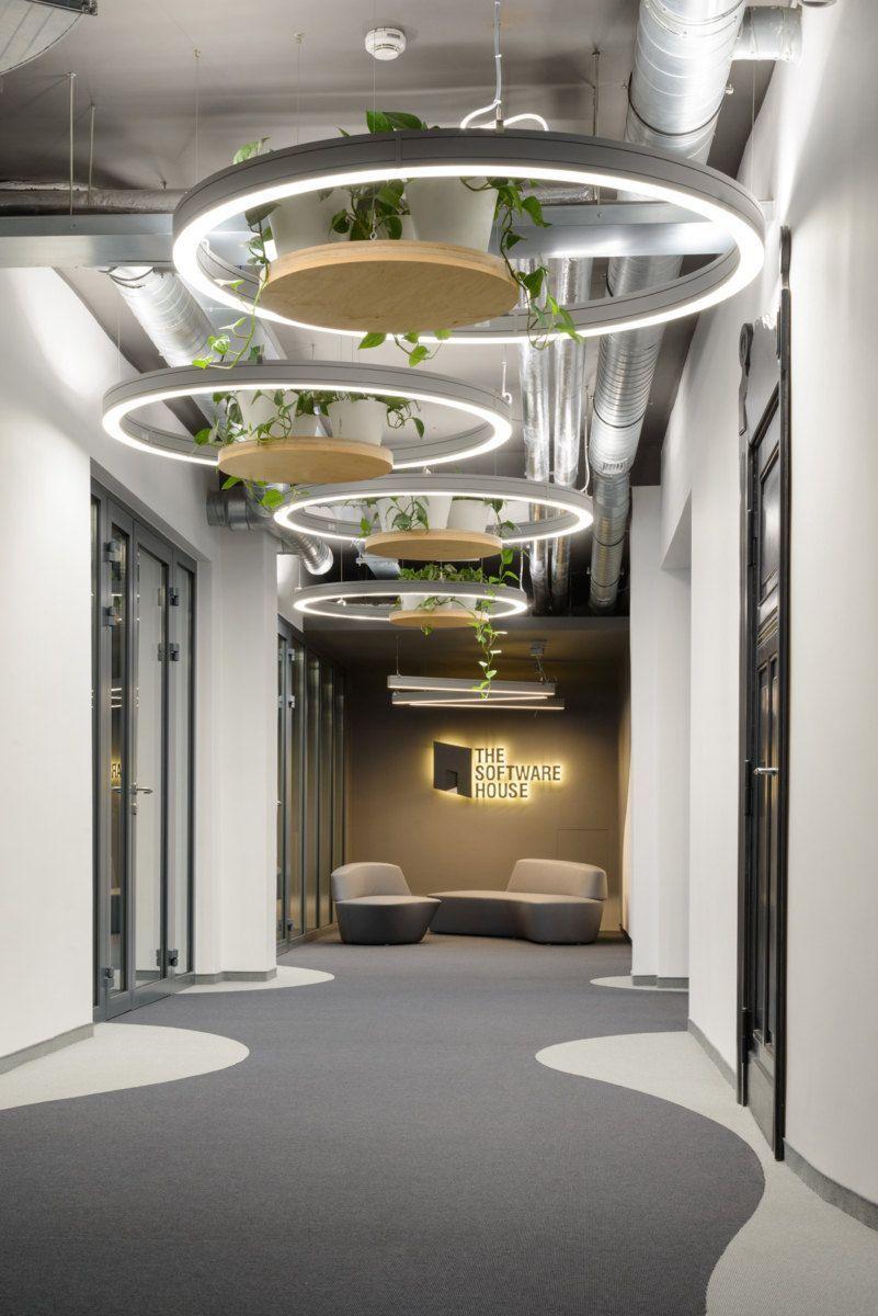 Hanging Plants And Organic Flooring Pathways Office Ceiling Design Salon Interior Design Interior Design Software