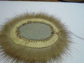 Как отделать мех вышивкой