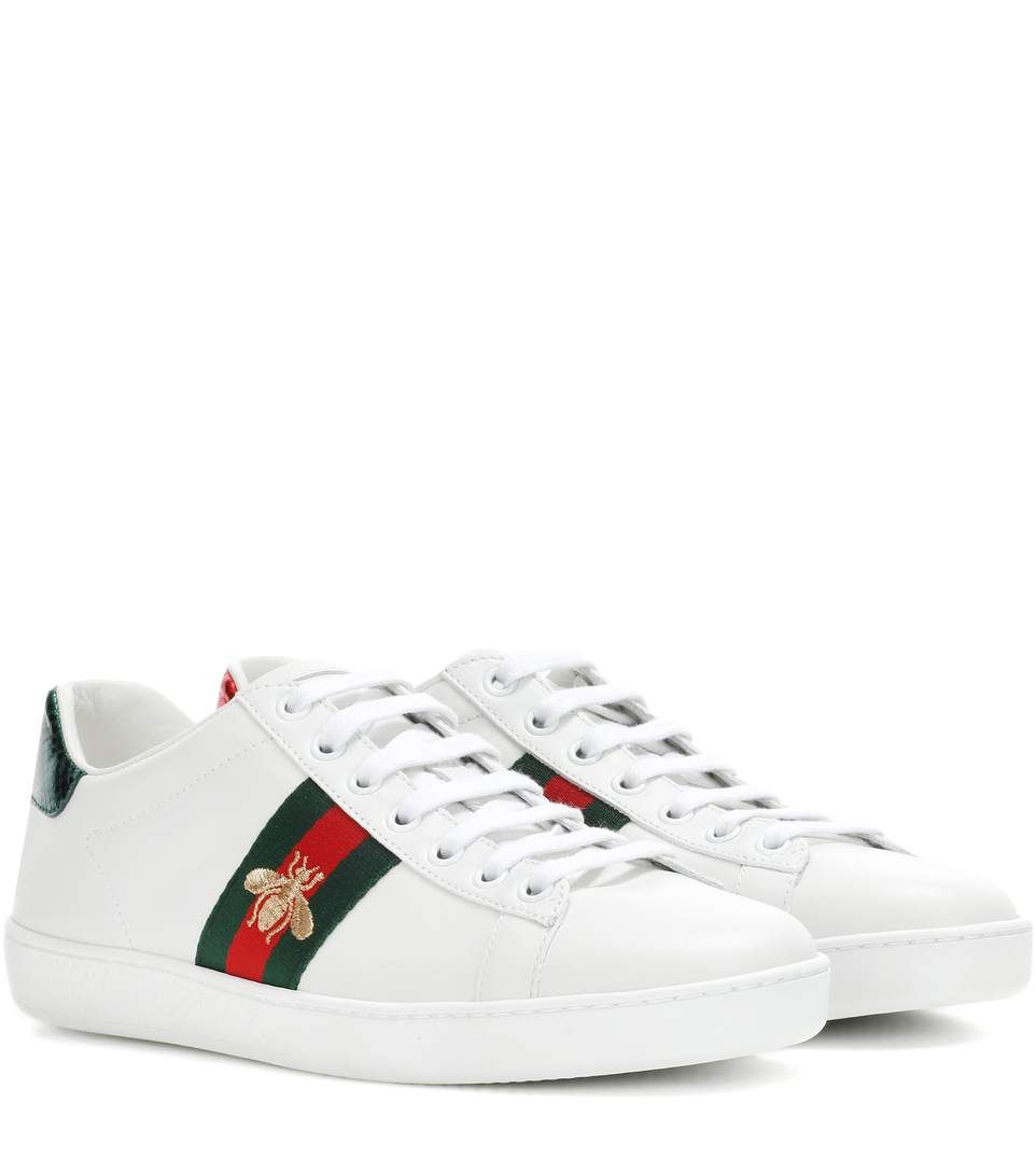 Gucci Ace Leather Sneakers Gucci Ace Sneakers Gucci Shoes Sneakers White Leather Shoes