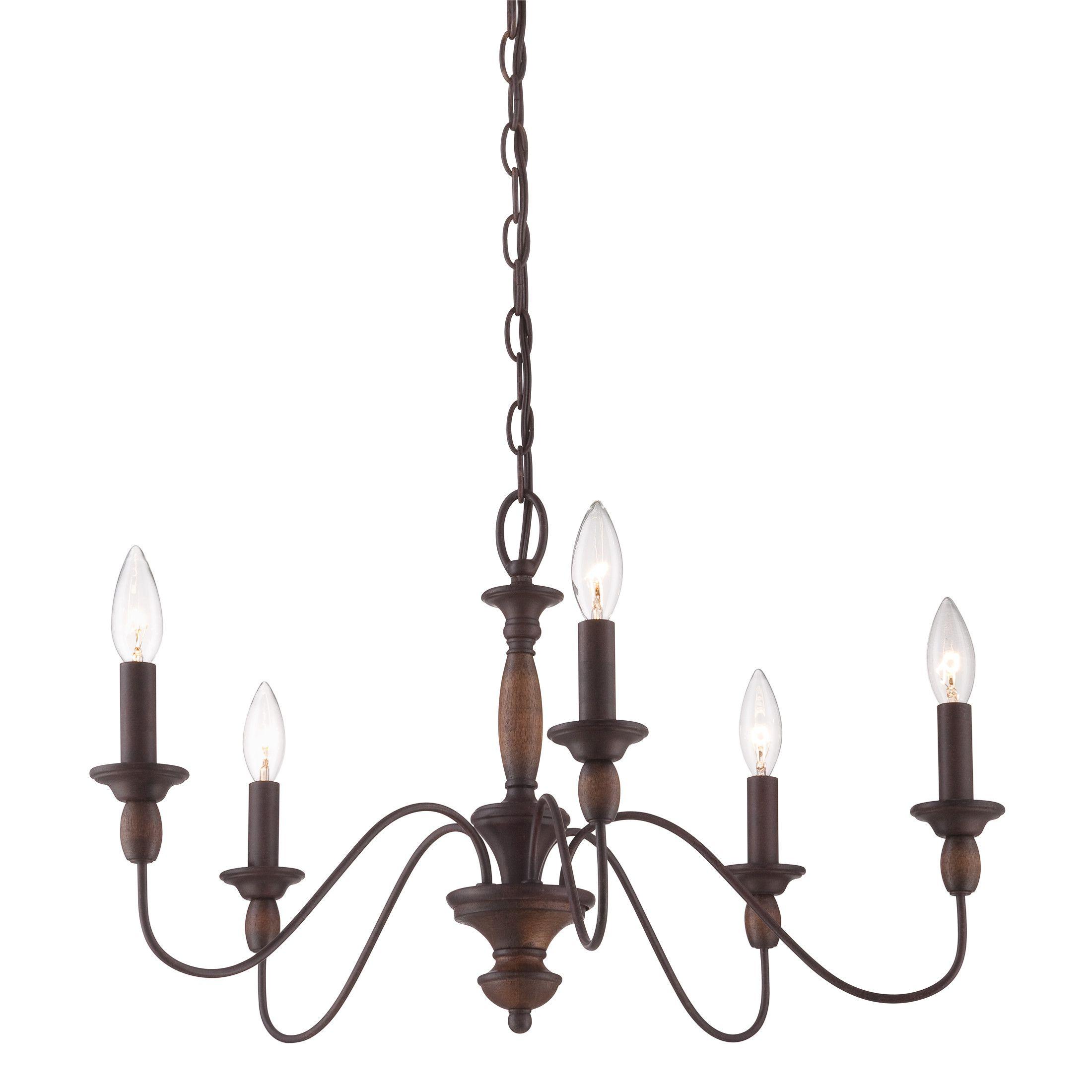 Quoizel holbrook light candlestyle chandelier light