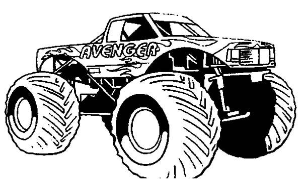 Monster Truck Avenger Monster Jam Coloring Pages Color Luna Monster Truck Coloring Pages Truck Coloring Pages Monster Trucks