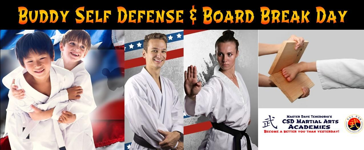 HOMESTEAD YOU'RE INVITED!  To Buddy Self Defense & Board Break Day! July 16th, 2015! Seminars: Bully awareness-Women's Safety-Adult Self Defense Come by & we will show you a really cool way reduce stress, feel good, be fit & How to break some boards of course! This Event is FREE! Just click here to register: https://member-site.net/Events/v2/default.aspx?EV--bJcww or Call (305) 224-9354