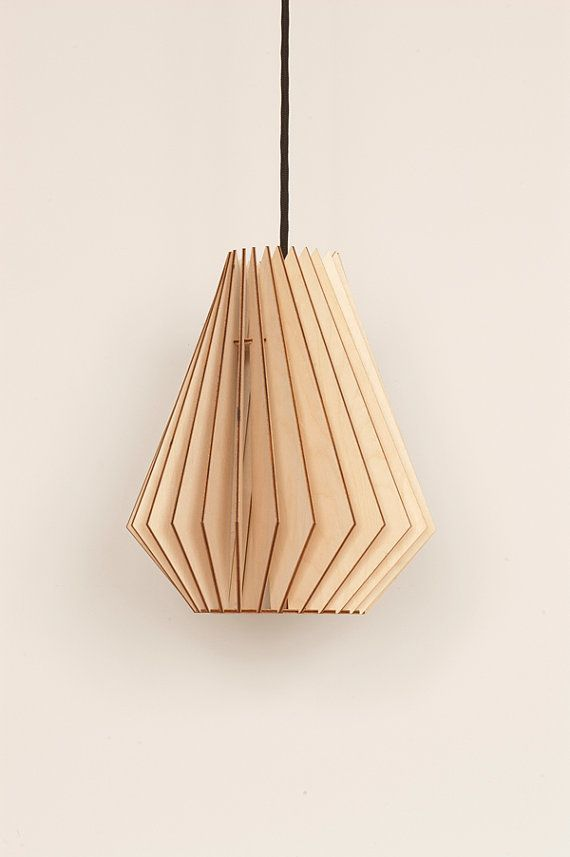 Hector wooden hanging lamp by envelamp on etsy €95 00