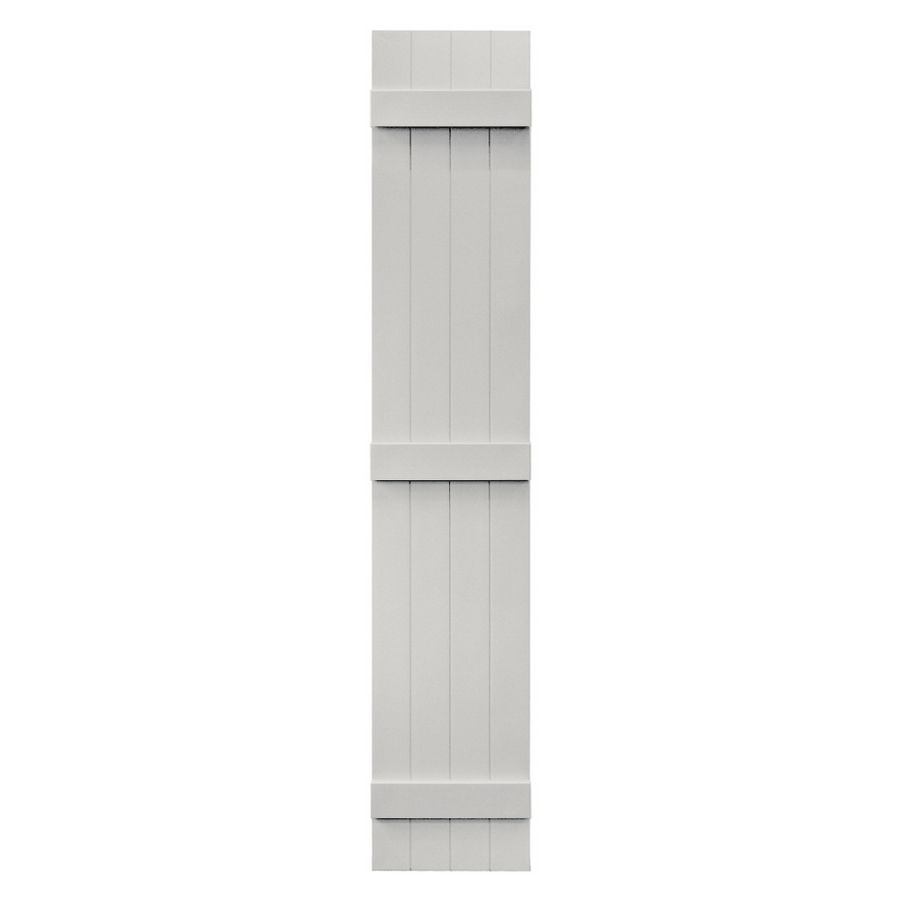 Beau Vantage 2 Pack Paintable Board And Batten Vinyl Exterior Shutters (Common:  14 In X 80 In; Actual: 14.0312 In X 79.875 In)