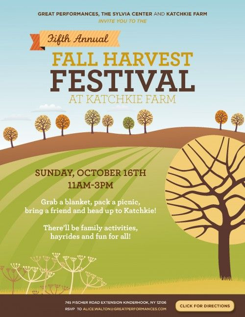 Katchkie Farm fall festival flyer; like the simple yet elegant - fall flyer