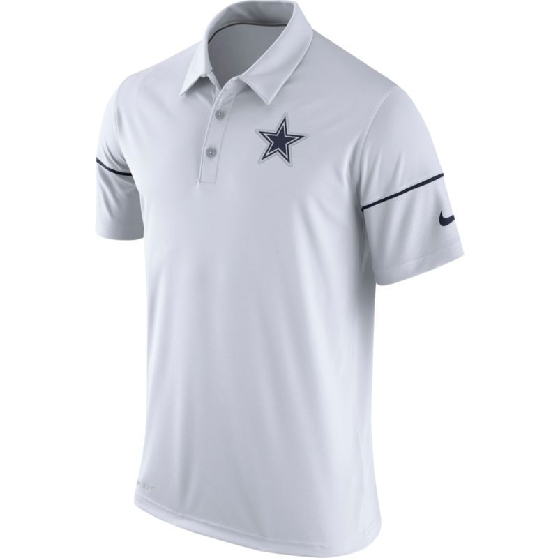 Nike Men s Dallas Team Issue White Polo  dd1b6c60f