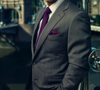 gray suits with purple tie | purple tie and gray suit | MY ...