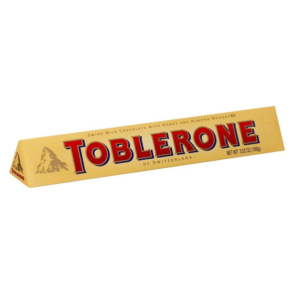 TOBLERONE Swiss Milk Chocolate Candy Bar 3.52oz Toblerone