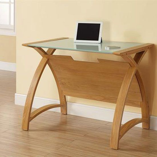 cohen curve laptop table is a modern design finished in a sumptuous curved real wood veneer that complements wood furniture in modern home