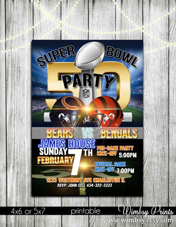 Printable Super Bowl Party Invites Football Party – Superbowl Party Invite