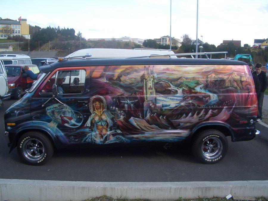 Full Body Mural On This Custom 70s Van