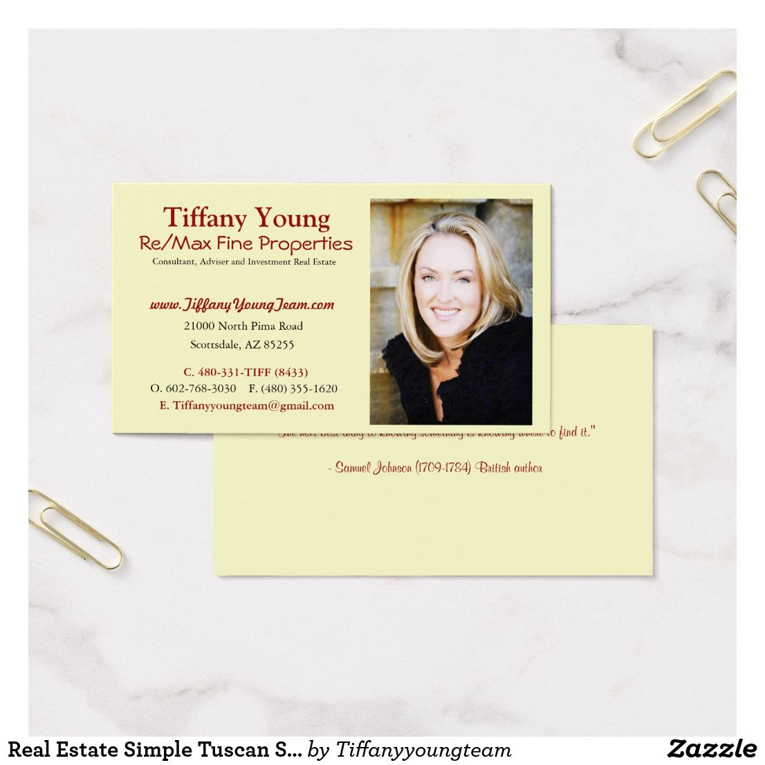 Real estate simple tuscan style photo w quote business card real estate simple tuscan style photo w quote business card colourmoves