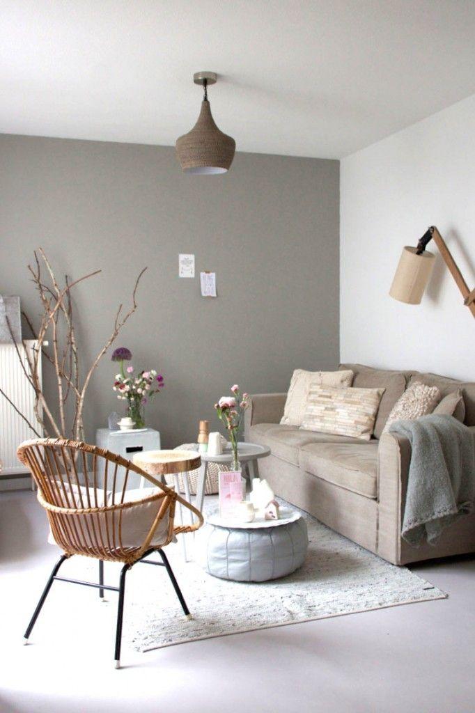 Inspiratie Een naturel woonkamer  wonen  Kleine