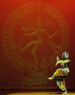Shiva dance. Dancing is seen as an art in which the artist and the art s/he creates are one and the same, thought to evoke the oneness of God and creation.