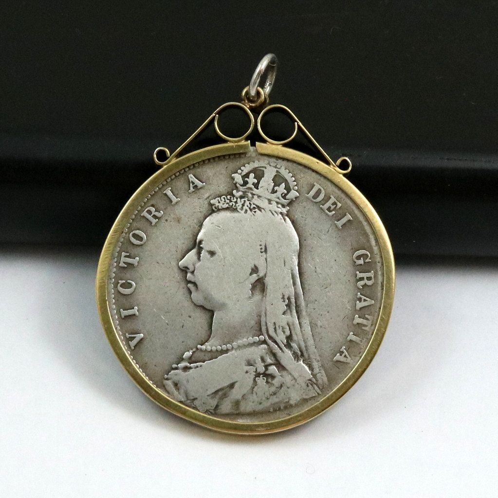crown coin queen mybooms by victoria on pin etsy pendant antique half lockets silver