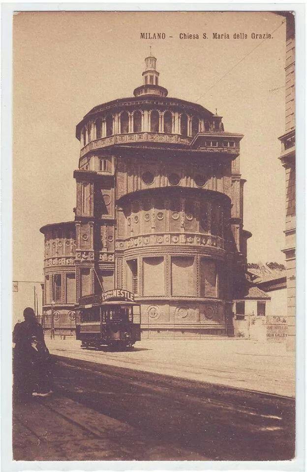 Italian Vintage Photographs ~ #Italy #Italian #vintage #photographs ~ S.Maria delle Grazie. Milan, Italy