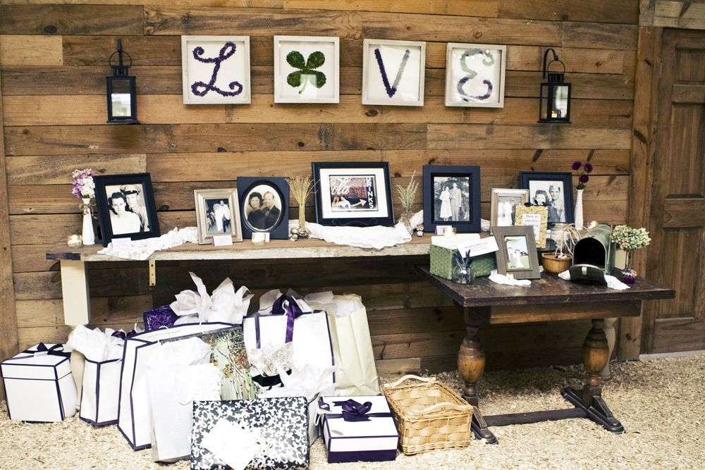 Georgia barn vintage style wedding at vinewood wedding gift rustic wedding gift table ideai could make the love letters if you like this negle Choice Image
