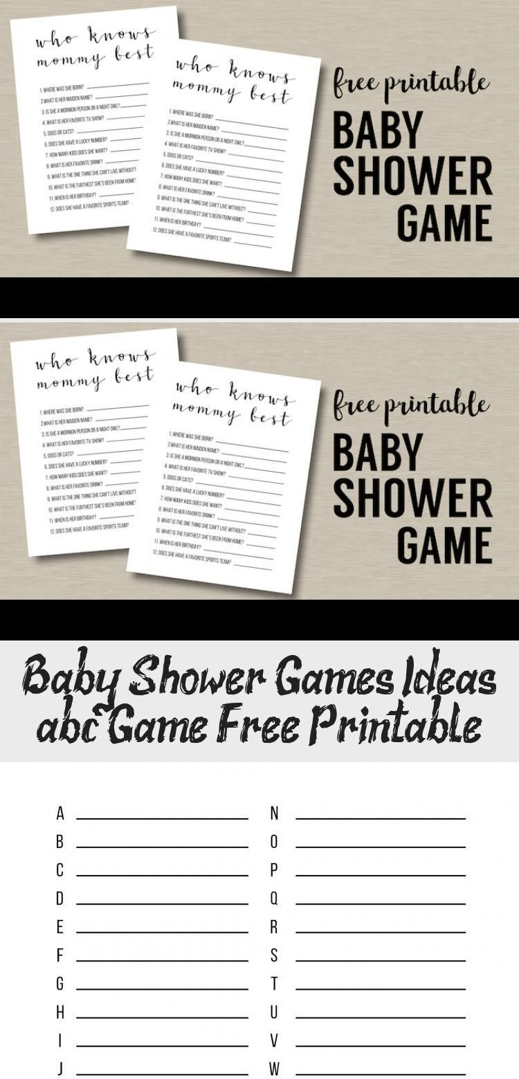 Shower Games Ideas {abc Game Free Printable in 2020 (With