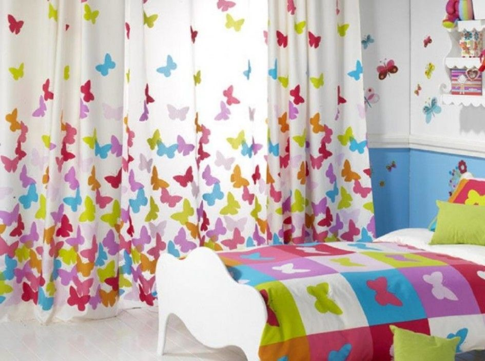 Kids Bedroom Curtains With Erfly Picture For Bedding And