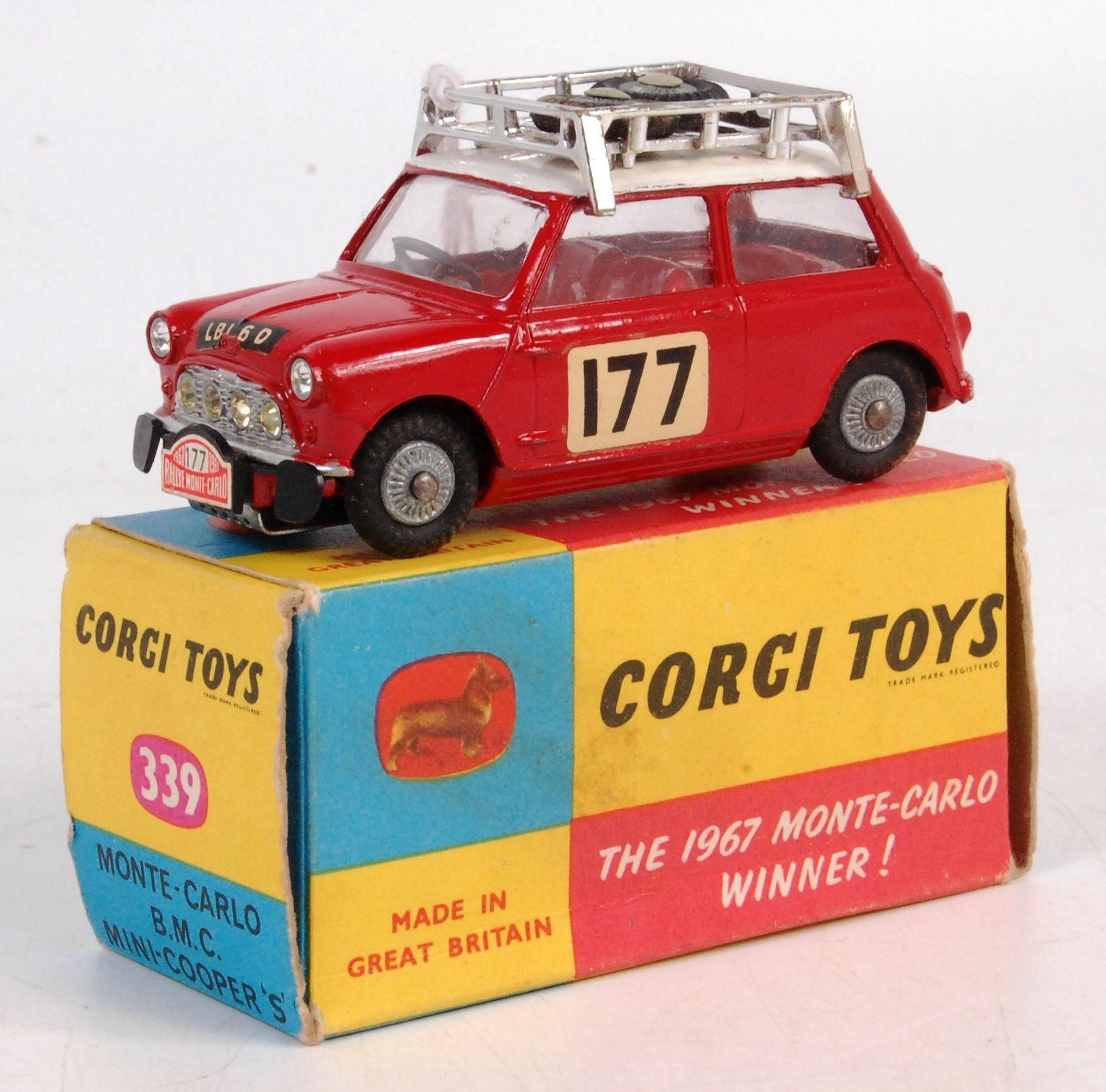 1607 Corgi 339 Mini Cooper S Monte Carlo 1967 Red