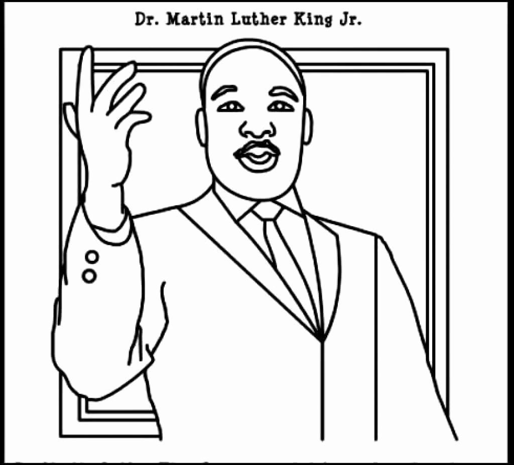 32 Martin Luther King Jr Coloring Page In